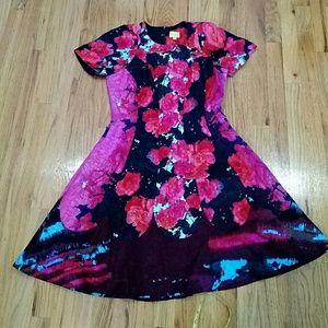 Tracy Reese Red Versailles Matelasse Dress